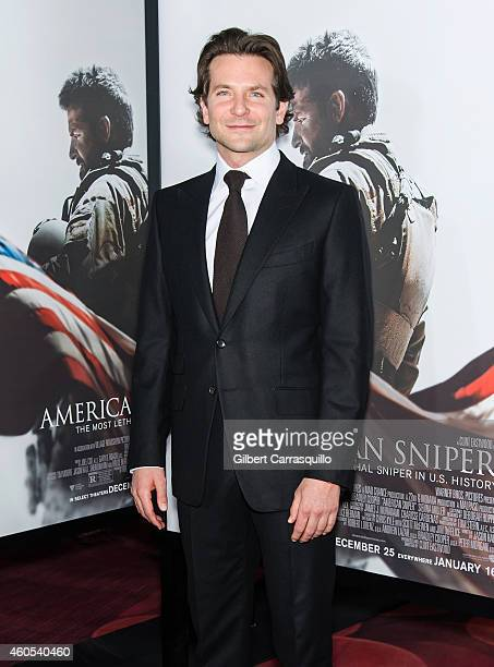 Actor Bradley Cooper attends the 'American Sniper' New York Premiere at Frederick P Rose Hall Jazz at Lincoln Center on December 15 2014 in New York...