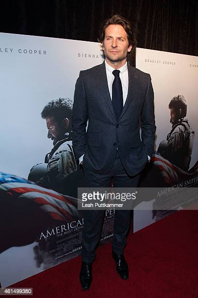 Actor Bradley Cooper attends the 'American Sniper' premiere at Burke Theater at US Navy Memorial on January 13 2015 in Washington DC