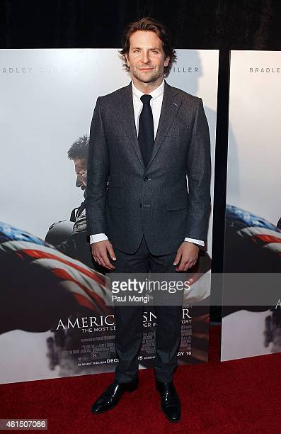 Actor Bradley Cooper attends the 'American Sniper' Washington DC Premiere at the Burke Theater at US Navy Memorial on January 13 2015 in Washington DC