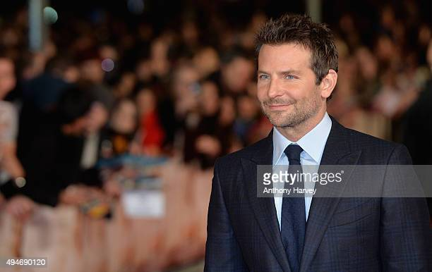 Actor Bradley Cooper attends the Burnt European premiere at the Vue West End on October 28 2015 in London England