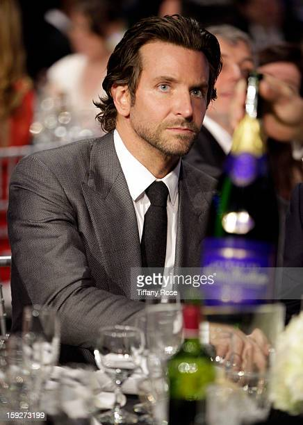 Actor Bradley Cooper attends the Critics' Choice Movie Awards 2013 with Champagne Nicolas Feuillatte at Barkar Hangar on January 10 2013 in Santa...