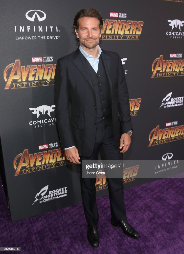 Actor Bradley Cooper attends the Los Angeles Global Premiere for Marvel Studios' Avengers: Infinity War on April 23, 2018 in Hollywood, California.