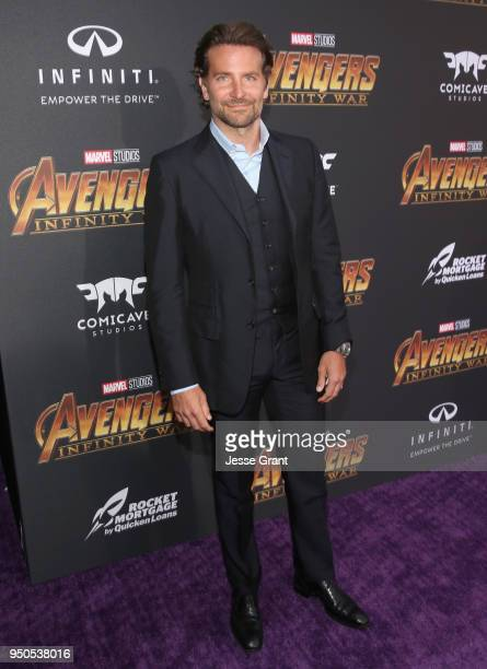 Actor Bradley Cooper attends the Los Angeles Global Premiere for Marvel Studios' Avengers Infinity War on April 23 2018 in Hollywood California