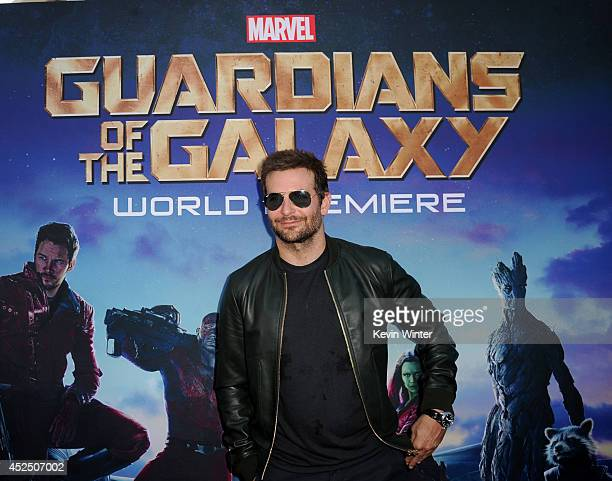 Actor Bradley Cooper attends the premiere of Marvel's Guardians Of The Galaxy at the Dolby Theatre on July 21 2014 in Hollywood California