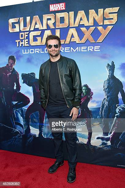 """Actor Bradley Cooper attends The World Premiere of Marvel's epic space adventure """"Guardians of the Galaxy"""" directed by James Gunn and presented in..."""