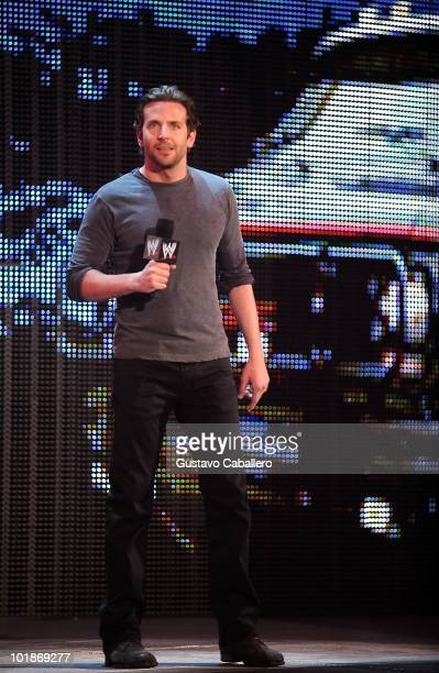 Actor Bradley Cooper attends WWE Monday Night Raw at AmericanAirlines Arena on June 7 2010 in Miami Florida
