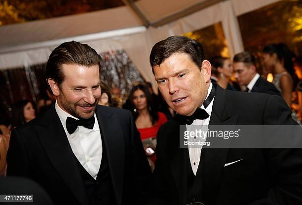Actor Bradley Cooper, left, and Bret Baier attend the Bloomberg Vanity Fair White House Correspondents' Association dinner afterparty in Washington,...