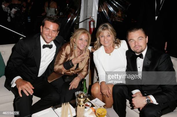 Actor Bradley Cooper mother Gloria Campano Actor Leonardo DiCaprio and mother Irmelin Indenbirken attend The Weinstein Company Netflix's 2014 Golden...