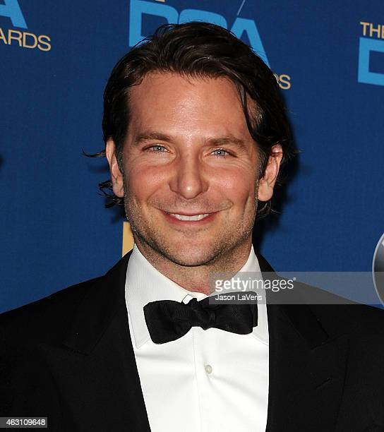Actor Bradley Cooper poses in the press room at the 67th annual Directors Guild of America Awards at the Hyatt Regency Century Plaza on February 7...