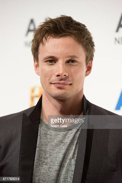 Actor Bradley James attends the 2015 A+E Network Upfront at Park Avenue Armory on April 30, 2015 in New York City.