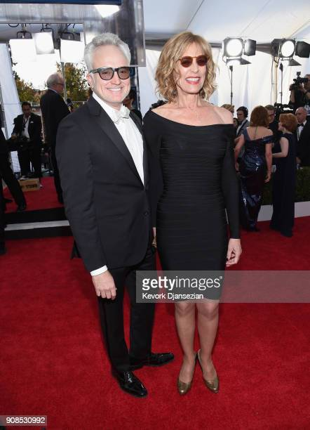 Actor Bradley Whitford and Christine Lahti attend the 24th Annual Screen ActorsGuild Awards at The Shrine Auditorium on January 21 2018 in Los...