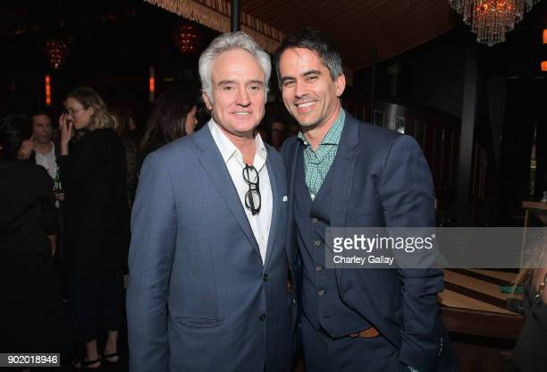 Actor Bradley Whitford and ICM Partners CoHead of Talent Dar Rollins attend ICM Partners Evening Before the Golden Globes on January 6 2018 in Los...