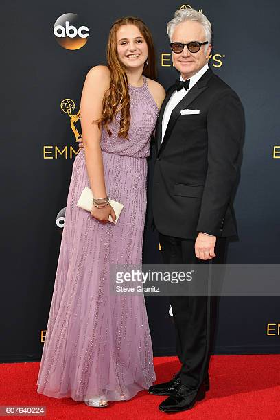 Actor Bradley Whitford and Mary Louisa attend the 68th Annual Primetime Emmy Awards at Microsoft Theater on September 18 2016 in Los Angeles...