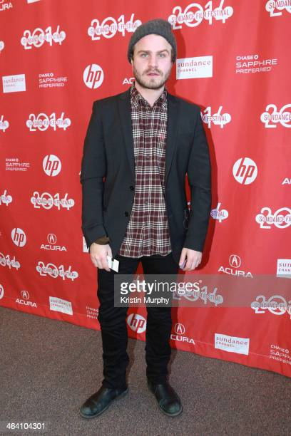 Actor Brady Corbet attends 'The Sleepwalker' Premiere during the 2014 Sundance Film Festival at Library Center Theater on January 20 2014 in Park...
