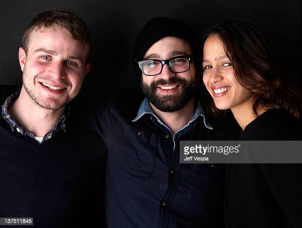 Actor Brady Corbet writer/director Antonio Campos and actress Mati Diop pose for a portrait during the 2012 Sundance Film Festival at the WireImage...