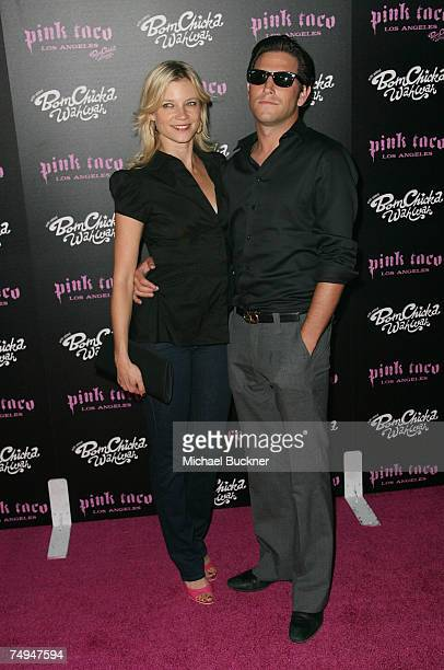 Actor Branden Williams and actress Amy Smart arrive at the launch of the Pink Taco on June 28 2007 in Los Angeles California