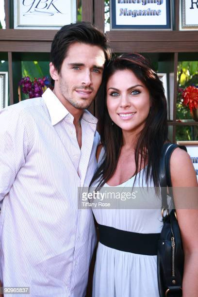 Actor Brandon Beemer and actress Nadia Bjorlin attend Day 1 of GBK's 2009 Emmy Gift Lounge on September 18 2009 in Beverly Hills California
