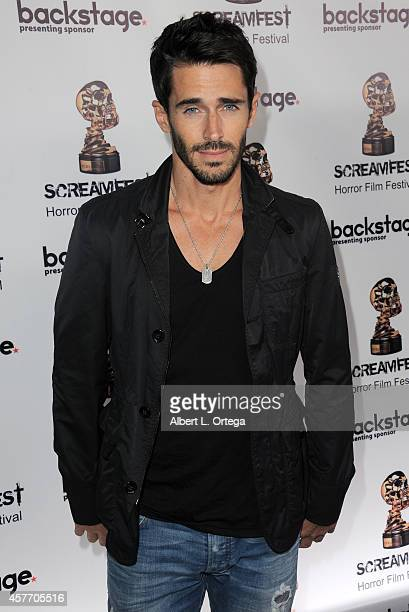 Actor Brandon Beemer arrives for the 'Fear Clinic' Premiere Screening And QA as part of 2014 ScreamFest held at TCL Chinese 6 Theatres on October 22...