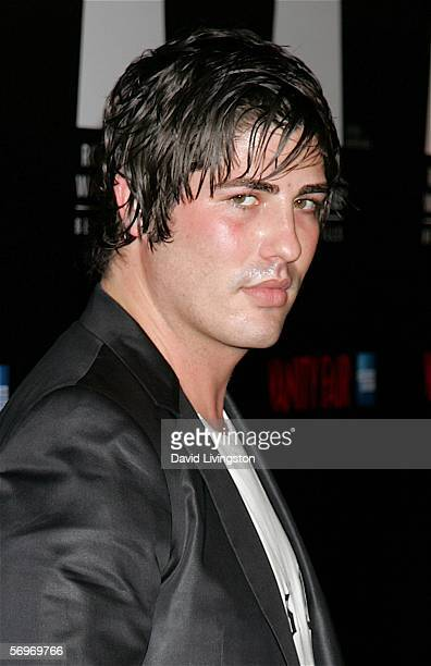 Actor Brandon Davis poses at the Rodeo Drive Walk of Style event honoring costume designers Edith Head James Acheson and Milena Canonero on February...