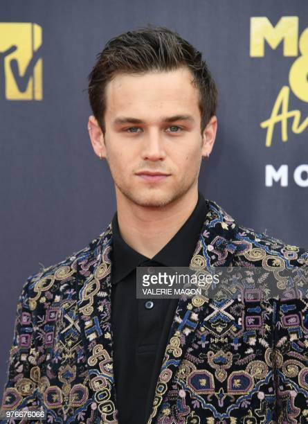 US actor Brandon Flynn attends the 2018 MTV Movie TV awards at the Barker Hangar in Santa Monica on June 16 2018 This year's show is not live It will...