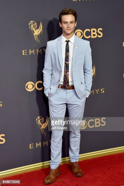 Actor Brandon Flynn attends the 69th Annual Primetime Emmy Awards at Microsoft Theater on September 17, 2017 in Los Angeles, California.