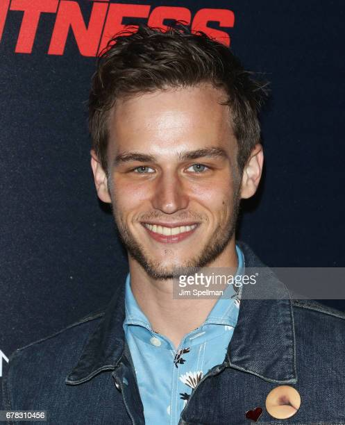 Actor Brandon Flynn attends the screening of Marvel Studios' 'Guardians Of The Galaxy Vol 2' hosted by The Cinema Society at the Whitby Hotel on May...