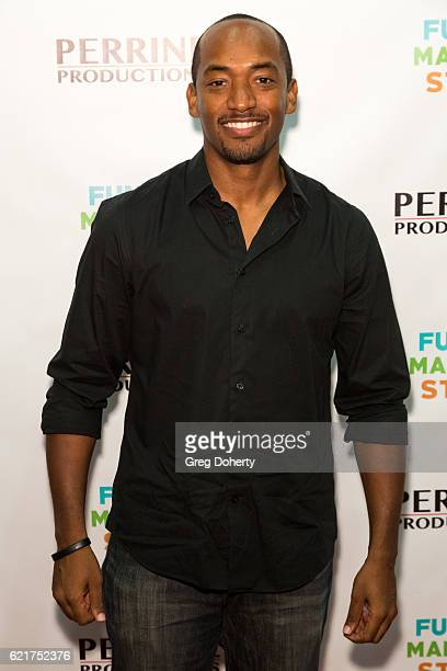 Actor Brandon Fobbs arrives for the Screening Of Perrine Productions' 'Funny Married Stuff' at the ACME Comedy Theatre on November 7 2016 in Los...