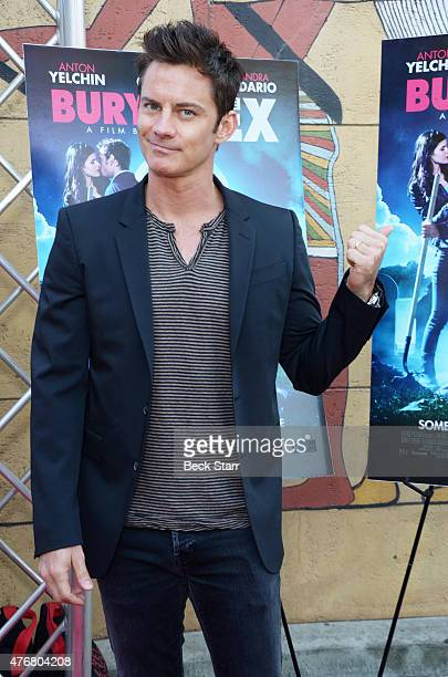 Actor Brandon Johnson attends special advance screening of Joe Dante's Burying The Ex at American Cinematheque's Egyptian Theatre on June 11 2015 in...