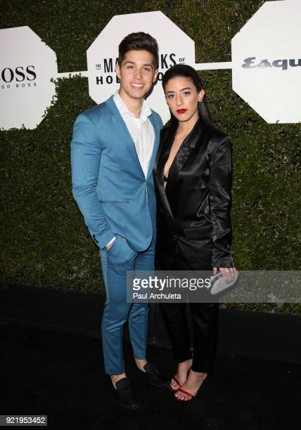 Actor Brandon Larracuente and Jazmin Garcia attend Esquire's annual 'Maverick's Of Hollywood' event at Sunset Tower on February 20 2018 in Los...