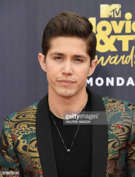 US actor Brandon Larracuente attends the 2018 MTV Movie TV awards at the Barker Hangar in Santa Monica on June 16 2018 This year's show is not live...