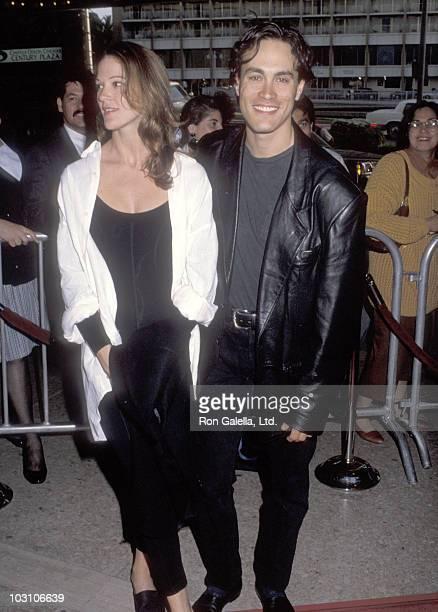 "Actor Brandon Lee and girlfriend Eliza Hutton attend the ""Alien 3"" Century City Premiere on May 19, 1992 at Cineplex Odeon Century Plaza Cinemas in..."