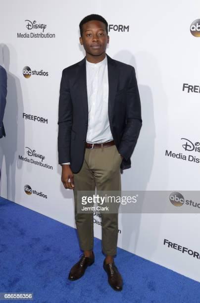 Actor Brandon Micheal Hall attends the 2017 ABC/Disney Media Distribution International Upfront at Walt Disney Studio Lot on May 21 2017 in Burbank...