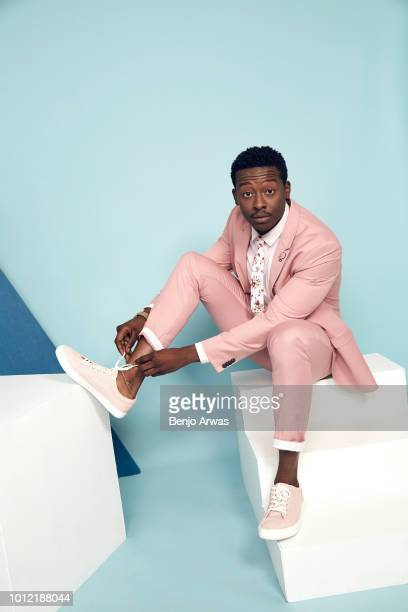 Actor Brandon Micheal Hall of CBS's 'God Friended Me' poses for a portrait during the 2018 Summer Television Critics Association Press Tour at The...