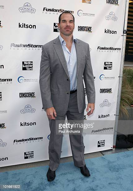 Actor Brandon Molale arrives at the 1st annual My Ocean Planet fundraiser benefitting project Kaisei at The Malibu Lumber Yard on June 5 2010 in...