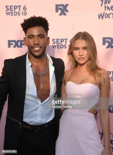 Actor Brandon Mychal Smith and guest attend the premiere of Season 4 of FXX's 'You're The Worst' at Museum of Ice Cream LA on August 29 2017 in Los...
