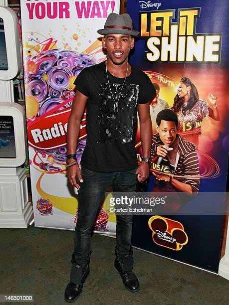 """Actor Brandon Mychal Smith attends Disney Channel's """"Let It Shine"""" Cast Autograph Signing Disney Store on June 13, 2012 in New York City."""