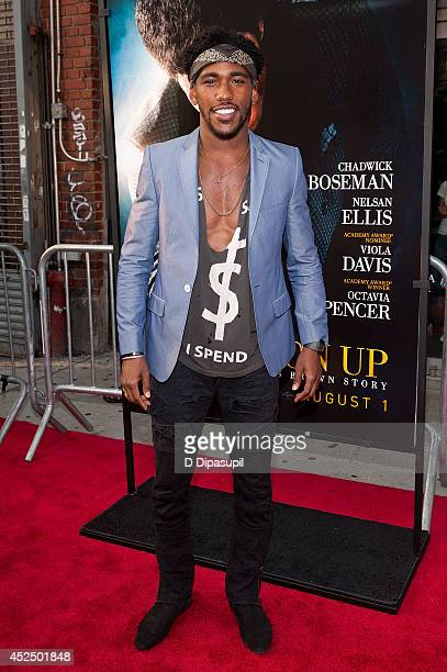 """Actor Brandon Mychal Smith attends the """"Get On Up"""" premiere at The Apollo Theater on July 21, 2014 in New York City."""