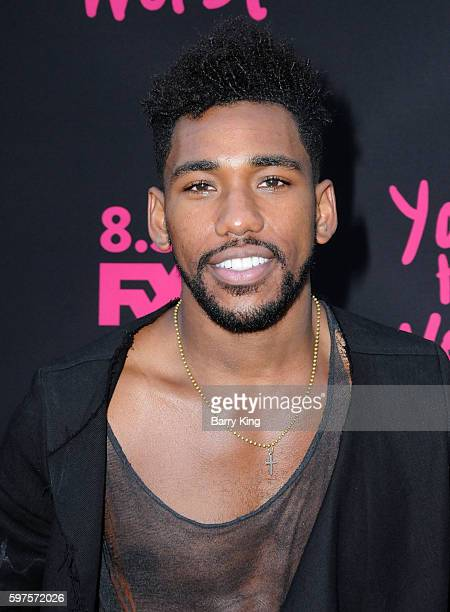 Actor Brandon Mychal Smith attends the premiere of FXX's 'You're The Worst' season 3 at NeueHouse Hollywood on August 28 2016 in Los Angeles...