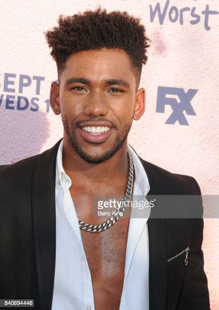 Actor Brandon Mychal Smith attends the premiere of FXX's 'You're The Worst' Season 4 at Museum of Ice Cream LA on August 29 2017 in Los Angeles...