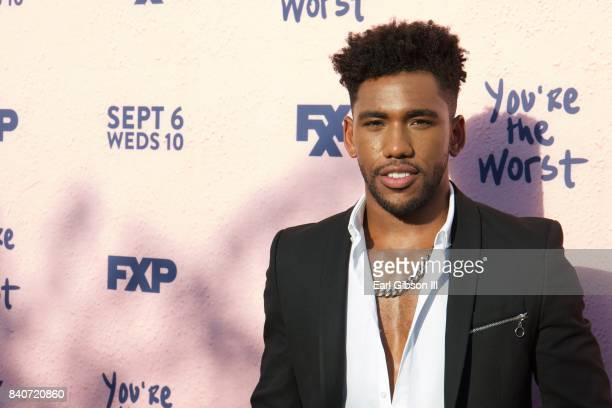 """Actor Brandon Mychal Smith attends the premiere of FXX's """"You're The Worst"""" Season 4 at Museum of Ice Cream LA on August 29, 2017 in Los Angeles,..."""