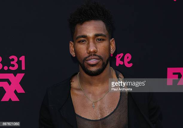 Actor Brandon Mychal Smith attends the premiere of FXX's 'You're The Worst' Season3 on August 28 2016 in Hollywood California