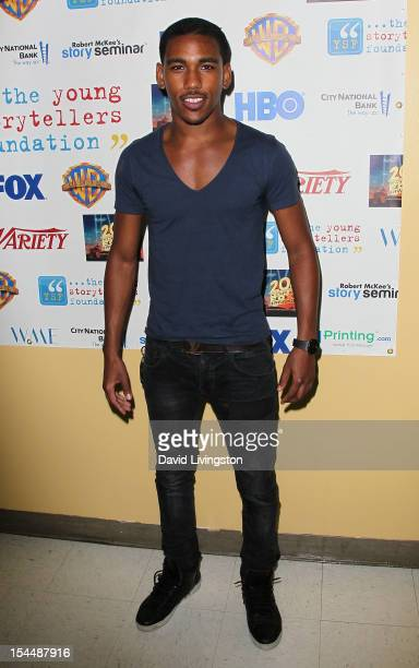 Actor Brandon Mychal Smith attends the Young Storytellers Foundation's Annual Gala at Willows Community School on October 20 2012 in Culver City...