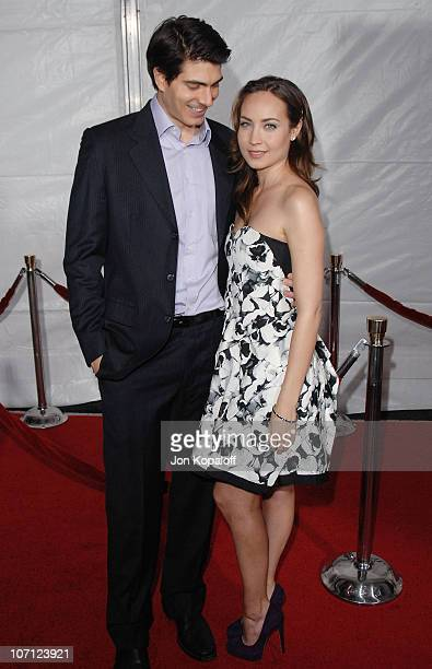 Actor Brandon Routh and wife actress Courtney Ford arrive at the Los Angeles Premiere 'The Lovely Bones' at Grauman's Chinese Theatre on December 7...