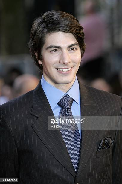 Actor Brandon Routh arrives at the UK premiere of Superman Returns held at the Odeon Leicester Square on July 13 2006 in London England
