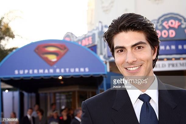 Actor Brandon Routh arrives at the Warner Bros premiere of Superman Returns held at the Mann Village Theater on June 21 2006 in Westwood California