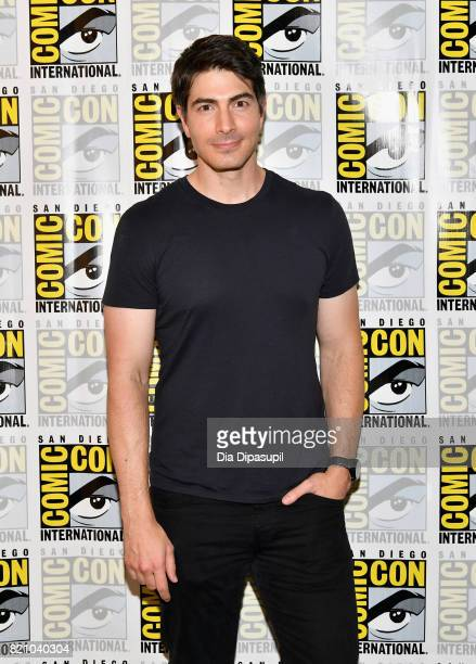 "Actor Brandon Routh at DC's ""Legends Of Tomorrow"" Press Line duirng Comic-Con International 2017 at Hilton Bayfront on July 22, 2017 in San Diego,..."