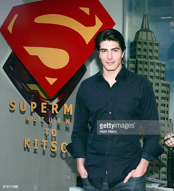 Actor Brandon Routh attend the Superman Returns apparel launch at Kitson on May 1 2006 in Beverly Hills California