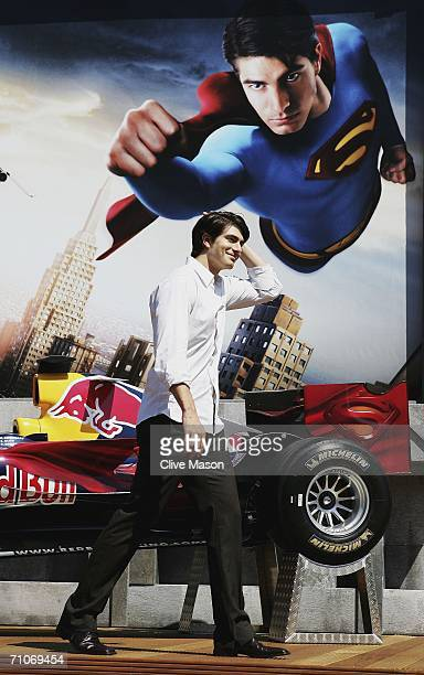 Actor Brandon Routh attends a Red Bull Racing and Superman Returns event prior to the Monaco Formula One Grand Prix at the Monte Carlo Circuit on May...