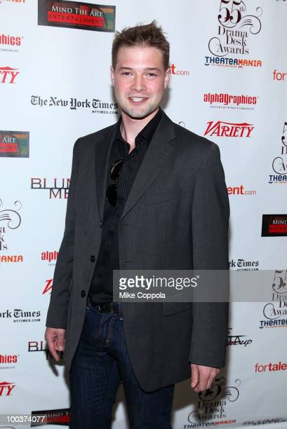 Actor Brandon Ruckdashel arrives at the 55th Annual Drama Desk Awards at the FH LaGuardia Concert Hall at Lincoln Center on May 23 2010 in New York...