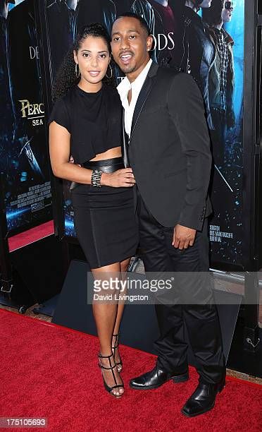 Actor Brandon T Jackson and Denise Marie Xavier attend a screening of Twentieth Century Fox and Fox 2000's Percy Jackson Sea of Monsters at The...
